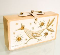 Vintage 60s Enid Collins Gold Roadrunner Box Bag by Spiderbot