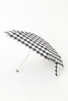 ギンガム折り畳み傘  ギンガム折り畳み傘 2376 モノトーンの配色がデイリーに使いやすい折り畳み傘 ギフトにもおすすめです