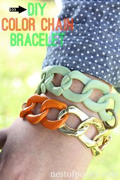 Says it uses some trim from Simplicity that's under $5.  Sounds good to me! DIY Color Chain Bracelet