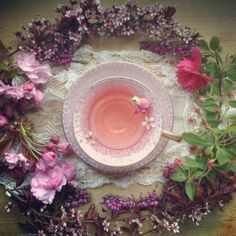 Pink Moon tea meditation. Would be great with rose, strawberry and eldeberry herbal tea.