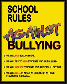 6 Great Posters on Bullying ~ Educational Technology and Mobile Learning