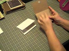 mini flip album video tutorial or can be used for inserts into albums.  good video.  will be making this for sure