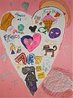 The Graders went soul searching with this project. They created these Heart Maps to represent things that are very important to th. Kindergarten Projects, Preschool Kindergarten, Classroom Activities, Happy Love Day, Get To Know You Activities, Heart Map, Beginning Of The School Year, Kids Writing, Time Capsule