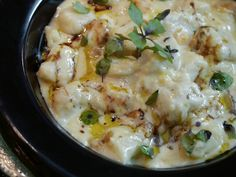 Esse é o Nhoque de Batata Doce da chef Luiza Hoffmann. Lindo e principalmente delicioso. (sweet and salty logo)