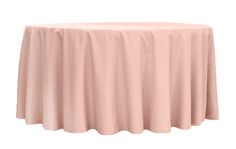 """Polyester 120"""" Round Tablecloth - Blush ●  $10.99 ● Available from www.cvlinens.com"""
