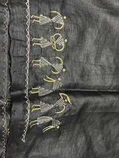 Embroidery On Kurtis, Kurti Embroidery Design, Hand Embroidery Dress, Sashiko Embroidery, Embroidery Suits, Hand Embroidery Stitches, Hand Embroidery Designs, Beaded Embroidery, Machine Embroidery