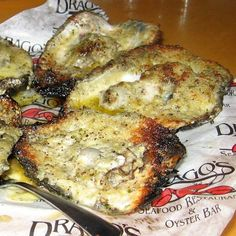 Not Into Raw? Try This Charbroiled Oyster Recipe.: Charbroiled Oysters at Drago's Seafood Retaurant, New Orleans, La.