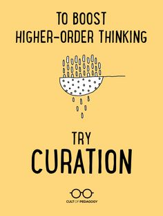 To Boost Higher-Order Thinking, Try Curation - A digital curation project is a fast way to engage critical thinking in any content area. Here's how it works. We do this when we compile an annotated bibliography. Instructional Coaching, Instructional Strategies, Teaching Strategies, Teaching Tips, Instructional Technology, Teaching Biology, Teaching Writing, Teaching Literature, College Teaching
