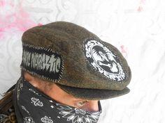 BoneYardDogz    crust punk newsboy hat