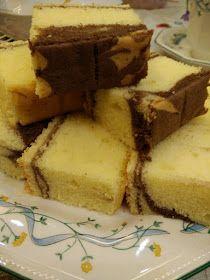CORETAN DARI DAPUR: MARBLE BUTTER CAKE Marmer Cake, Bolu Cake, Cake Varieties, Cotton Cake, Resep Cake, Home Baking, Cake Cookies, Almond, Cheesecake