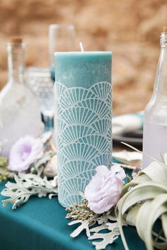 Use our free, scalloped candle wrap design to cut with your Cricut Explore Air and make these darling candle wraps! Perfect for events and…
