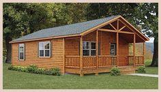 Settler style cozy log cabin
