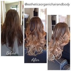 Balayage hair makeover #CHIcolor by Esthetica Organic Hair & Body