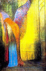 """Odilon Redon... I was never impressed with Redon's work when seen in art appreciation books but when I saw his work on exhibit I was awed... They are artistic """"jewels."""""""