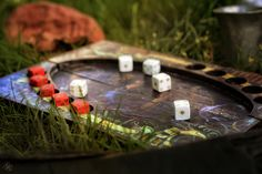 I made the board and dice. Photo by Gabriela Goffová. Dice, Poker, Boards, Deviantart, Planks