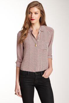 Quinn Button Front Silk Blouse