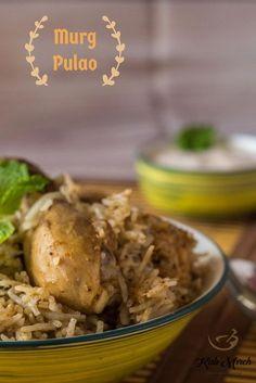 Murgh Pulao-Chicken Pulao - Kali Mirch - by Smita Chettinad Chicken, Biryani Recipe, Ramadan Recipes, Rice Dishes, One Pot Meals, Healthy Recipes, Rice Recipes, Recipies, Chicken Recipes