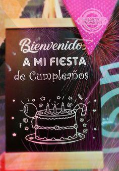 Ideas Pizarras bienvenida fiesta de cumpleaños. Encuentra este y más modelos disponibles en nuestra tienda ubicada en Nueva Providencia 2260 local 98 Metro Los Leones Providencia Santiago