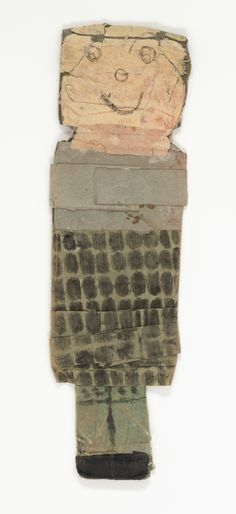 """James Castle, """"Untitled,"""" n.d., found paper, soot, color of  unknown origin, wheat paste, and string, Smithsonian  American Art Museum, Gift of the James Castle  Collection and Archive and museum purchase through the  Luisita L. and Franz H. Denghausen Endowment,  2013.27.10"""