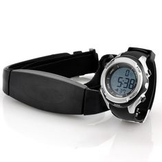 Heart Rate Monitor Watch with Chest Belt - EL Backlight, Stopwatch - Online Shop! Best Online Clothing Stores, Digital Wrist Watch, Bluetooth Watch, Wearable Technology, Fitness Watch, Heart Rate Monitor, Gold Accessories, Sport Watches, Casio Watch