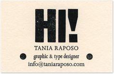 Personal Business Cards : Tânia Raposo