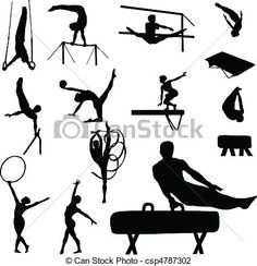 Vector - gymnastics man and woman - stock illustration, royalty free illustrations, stock clip art icon, stock clipart icons, logo, line art, EPS picture, pictures, graphic, graphics, drawing, drawings, vector image, artwork, EPS vector art