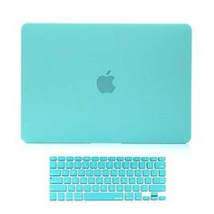 """Versality Perfect Fit Case Cover for MacBook Pro Retina Display and Matching Keyboard Cover 13"""" and Matching Keyboard Cover in Turquoise Blue Matte"""