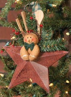 Gingerbread hanging star