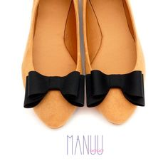 Black bows - shoe clips Manuu, shoe accessories, classic bows, elegant shoe clips