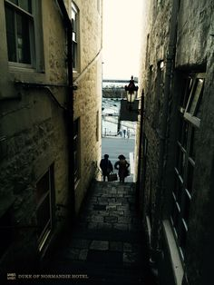 Alleyway of the main Street St Peter Port