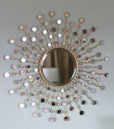 32 Ideas Diy On Budget Gold Sun Burst Mirror For An Amazing Living Room Wall, Mirror designs add an effortless means to. Although this mirror might appear to be a simple lighted piece, it is much more than that. The mirror has a. Diy Wall Art, Diy Wall Decor, Diy Home Decor, Room Decor, Mirror Decor Living Room, Bedroom Wall, Master Bedroom, Mirror Art, Diy Mirror
