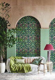 Cole And Son Wallpaper, Bird Wallpaper, Green Wallpaper, Bedroom Wallpaper, Botanical Wallpaper, Wallpaper Wallpapers, Wallpaper Ideas, Wallpaper Roll, Color Terracota