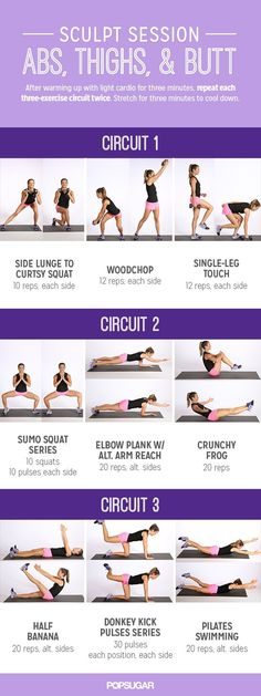 Printable Workout: Sculpt Session For Abs and Glutes from PopSugar