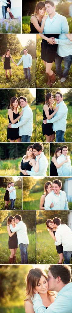 him kissing, her leaning back. edmonton romantic engagement pictures
