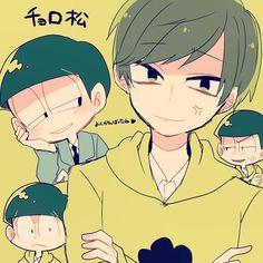 Osomatsu-san- Choromatsu #Anime「♡」 Ichimatsu, Avatar Couple, Theme Song, Homestuck, Anime Comics, Vocaloid, One Pic, Anime Guys, Brother