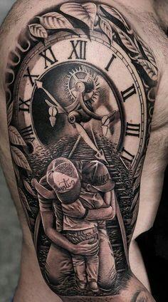 Time Hand Tattoos for Men . Time Hand Tattoos for Men . Hand Tattoos, Forarm Tattoos, Tattoos Arm Mann, Time Tattoos, Forearm Tattoo Men, Body Art Tattoos, Clock Tattoos, Tattoos Masculinas, Lion Head Tattoos