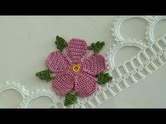 New design ORIGINAL towel edge model crochet example Embroidery Flowers Pattern, Flower Patterns, Crochet Flowers, Crochet Lace, Baby Knitting Patterns, Crochet Patterns, Saree Kuchu Designs, Vintage Chest, Smocks