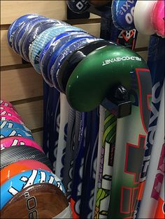 Show off your Field Hockey Stick selection with an array of Slatwall Faceouts. I would have staggered height across all to create a visually interesting pattern as done in the main photo left, but …