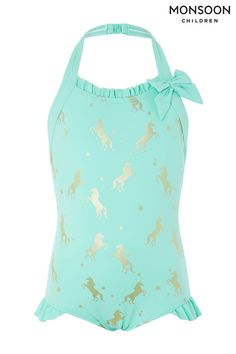 3c139fe95a Buy Monsoon Unicorn Gold Foil Swimsuit from the Next UK online shop