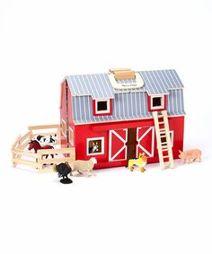 Another great find on #zulily! Melissa & Doug Fold & Go Barn. Mom has this all the grandkids love it