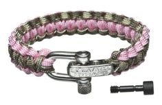 This Light Duty Survival Strap has a Multicam Camo inside color and a Rose Pink edge color. www.survivalstraps.com
