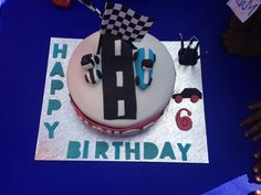 Racing cars cake for 6yr old boy