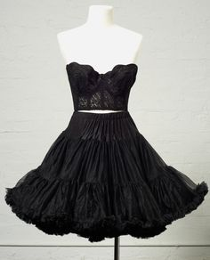 Sexy Little Black Lace Vintage Bustier by LauraDarlingDeluxe, $22.00