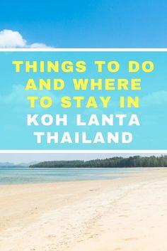 Things to do in Koh Lanta, Thailand