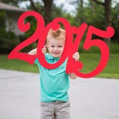 2015 Holiday Card Photo Prop Sign