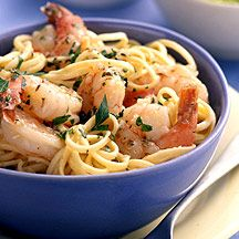 Weight Watcher Shrimp Scampi. Made this for dinner tonight and we loved it. I added broc, artichokes and mushrooms which made it more filling. More veggies less pasta :) Skinny Recipes, Ww Recipes, Seafood Recipes, Great Recipes, Dinner Recipes, Cooking Recipes, Favorite Recipes, Healthy Recipes, Healthy Tacos