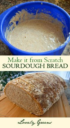 to make sourdough bread and starter from scratch How to make Sourdough Bread and Starter from Scratch - wholesome and delicious bread handmade by you!How to make Sourdough Bread and Starter from Scratch - wholesome and delicious bread handmade by you! Sourdough Recipes, Bread Recipes, Baking Recipes, Sourdough Bread Starter, Pain Pizza, Cuisines Diy, Do It Yourself Food, Think Food, Fermented Foods