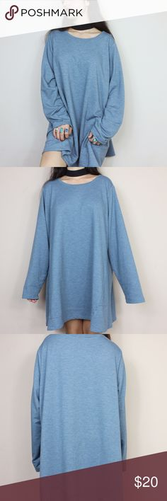 Oversized sweater tunic ••buy one get one 50% off!•• Size: no tag but fits like a L Brand: logo lounge  Measurements: length: 32 inches & 25 inches from under arm to under arm  * no flaws!* - Price is negotiable - Make sure to ask for measurements! No returns for items that don't fit correctly. - Comes from smoke/ pet free environment.  - No holds! First come first serve  - Not responsible for lost/damaged mail  - All sales are final Sweaters Crew & Scoop Necks