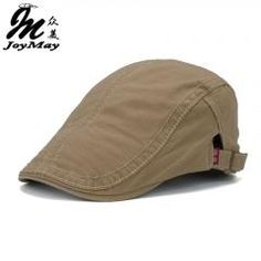 40% OFF   Joymay 2016 New Plain Cotton Berets Caps For Men Casual Peaked ce18e0025f
