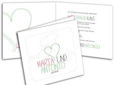 Hochzeitseinladungskarte - Grenzenlose Liebe